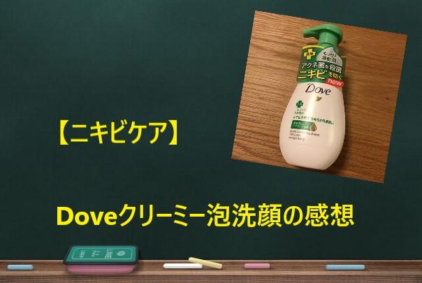【ニキビケア】Doveクリーミー泡洗顔の感想。洗浄力が強いです。
